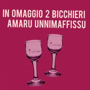 2 bicchieri in omaggio